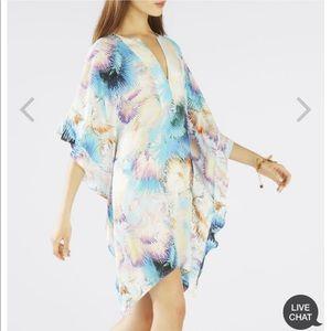 Bcbg printed ruffle kaftan dress